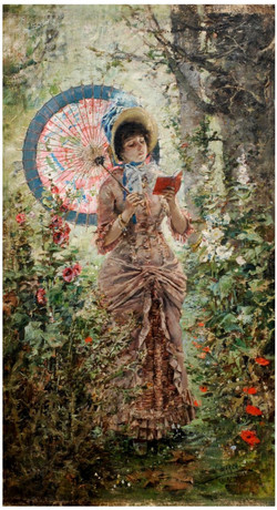 Girl in the garden