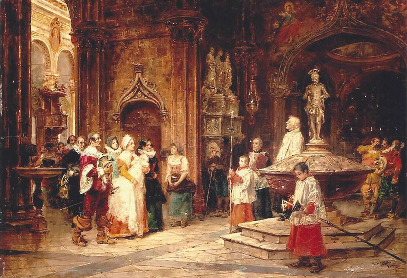 A christening in Spain