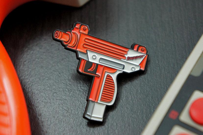 Nintendo Uzi zapper soft enamel lapel pin