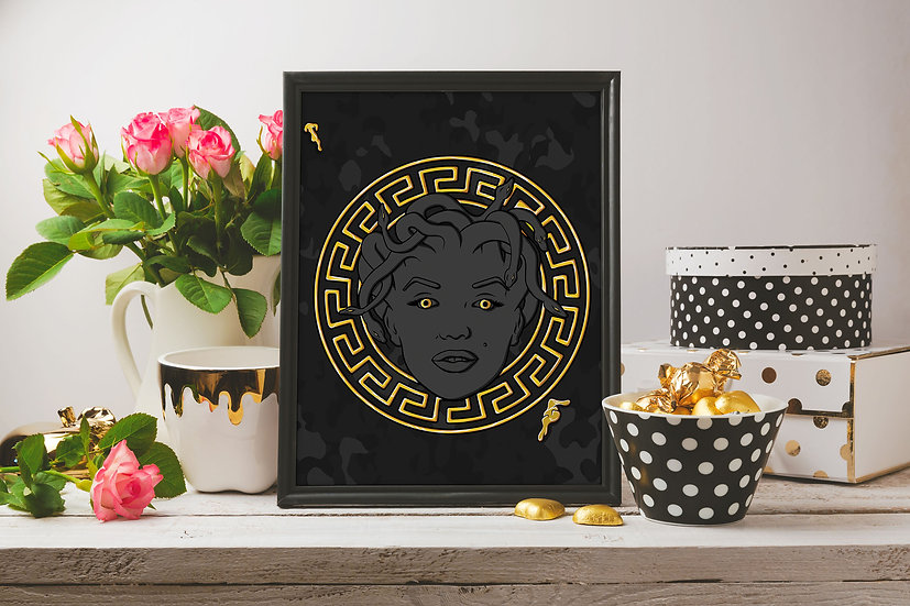 "Medusa Monroe - ""Versace Princess"" Print"