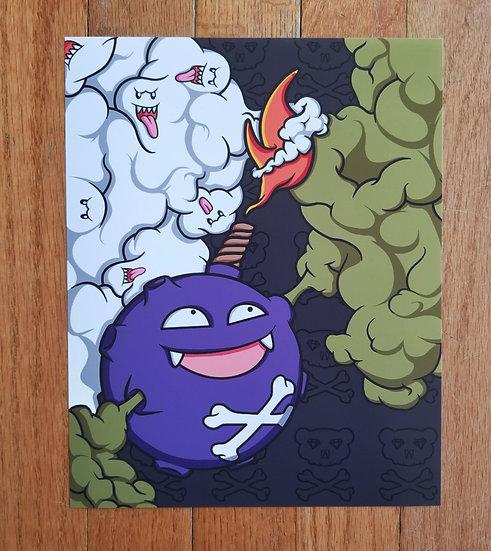 Toxic Koffing Bomb Fine Art Print