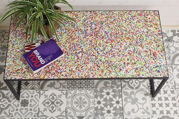 Table Basse Multicolore