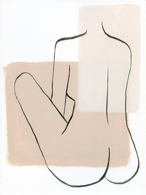 Lined Lady 1 Print
