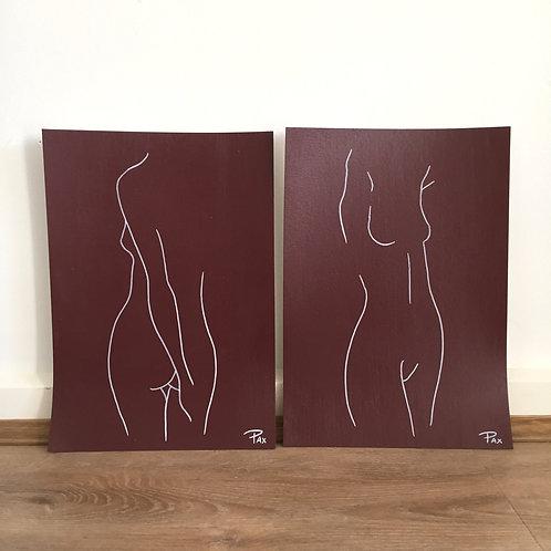 Ladies in Burgundy