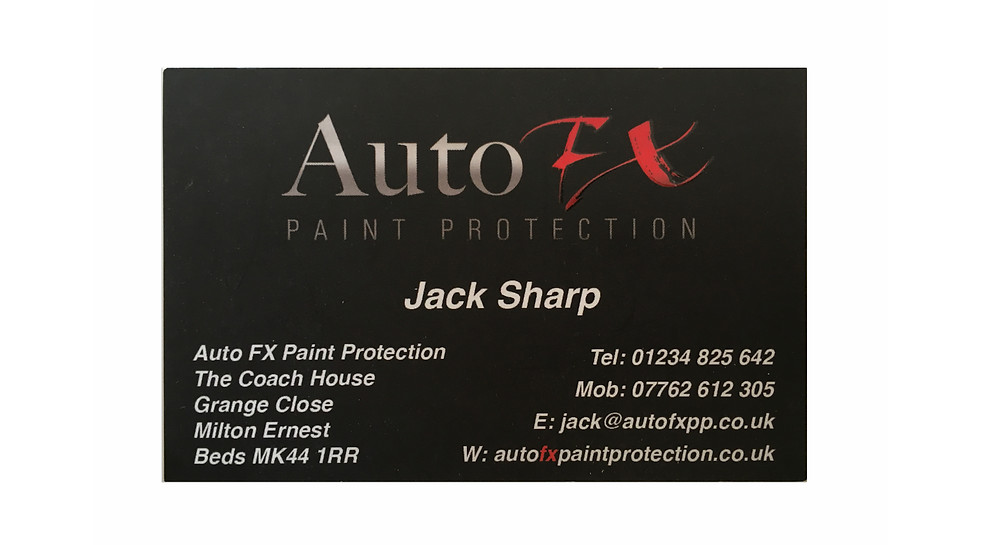AutoFX original business card