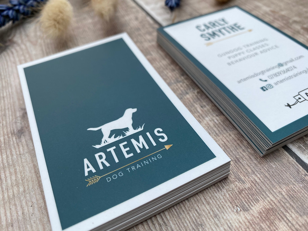 Business Card for Artemis Dog Training