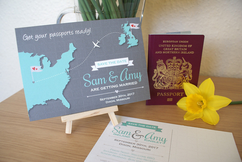 Abroad Wedding - Save the Date Postcard