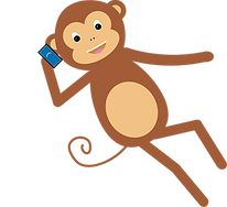 Creative Monkey is on the phone