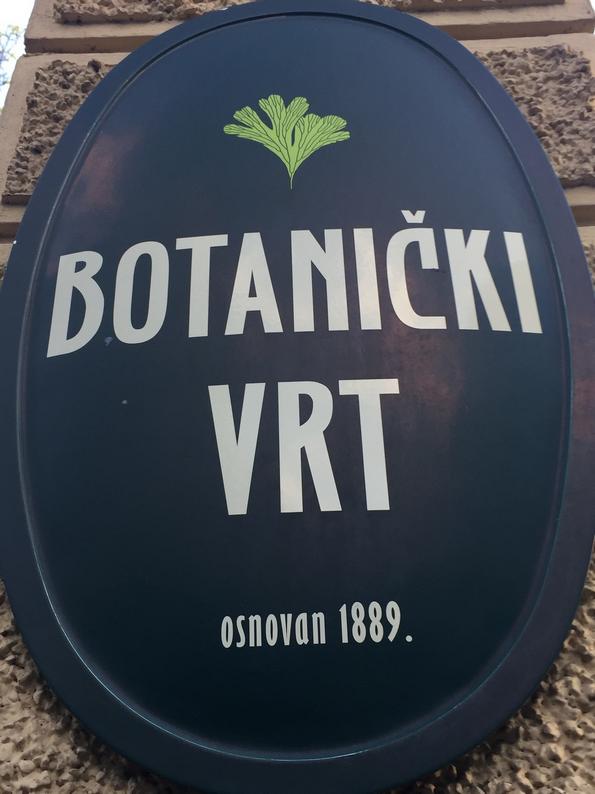 Botanical GArden Zagreb plate