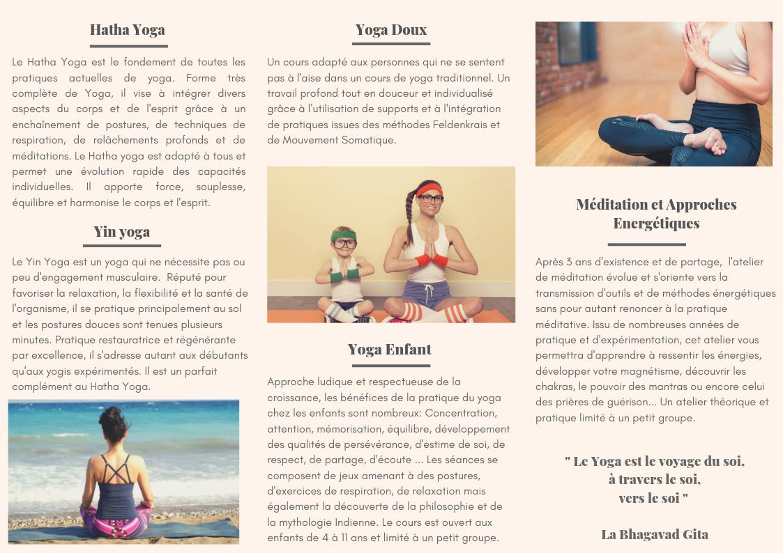 Activités Jaya Yoga
