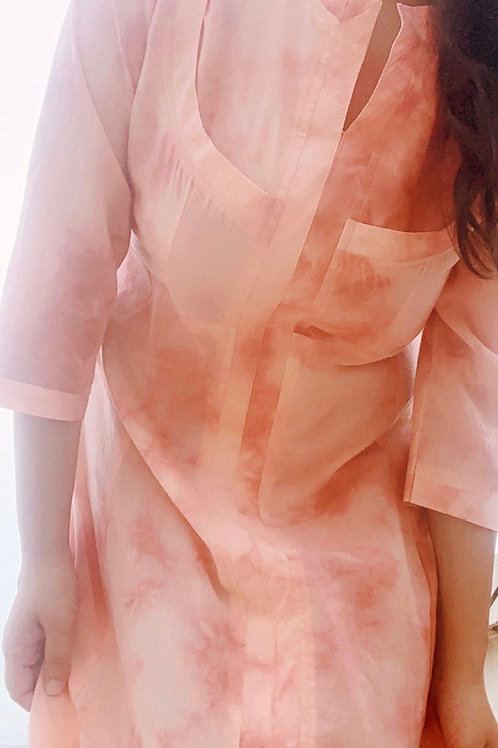 PINK CITY SKY SET TIE DYE KURTA SET