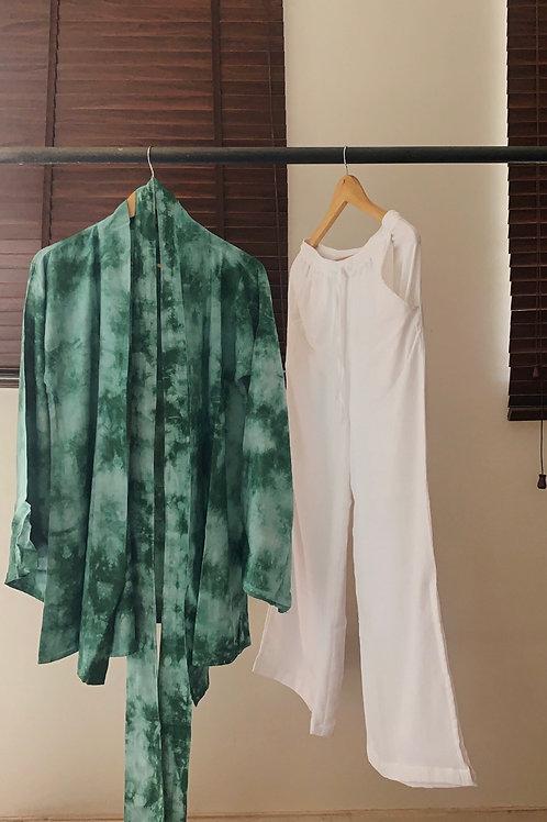 Sea Of Green  Robe + Soft Shell Pants