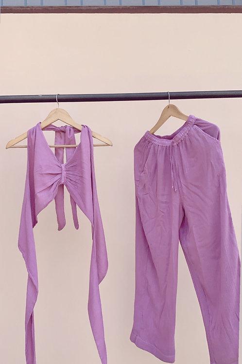 Mauve  : bralette +  pants THE WHITSUNDAY SET