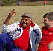 Sheldon Hughes. Founder of Mtuba Football Academy.