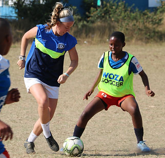 Service and soccer with girls in South Africa