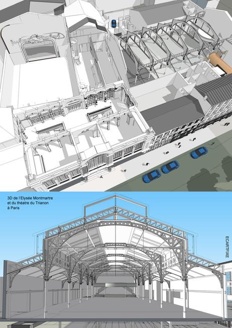 3D ELYSEE MONTMARTRE & THEATRE DU TRIANON - PARIS
