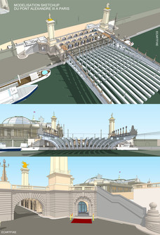 3D - PONT ALEXANDRE III - PARIS