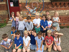 Kids from Chronicle's Spitfire Story Trail