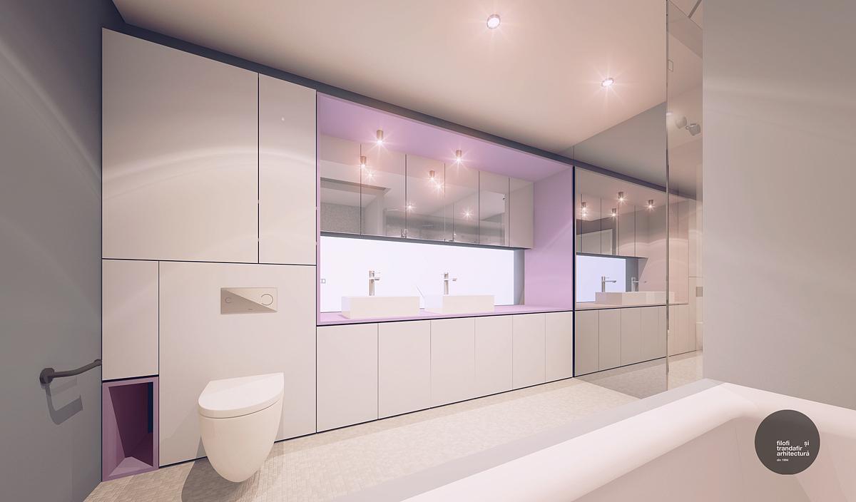 design interior baie casa A cluj