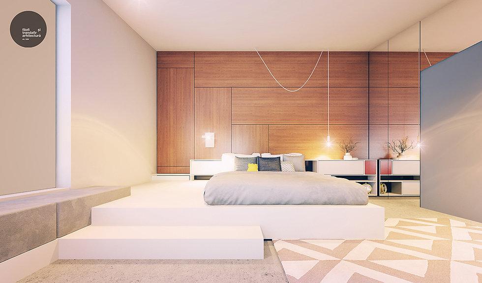 design interior dormitor Casa A Cluj