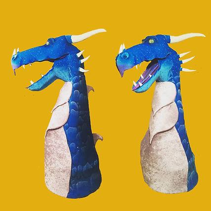 dragon puppet cinderella orange backgrou