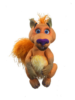 Horace the Squirrell Puppet orange
