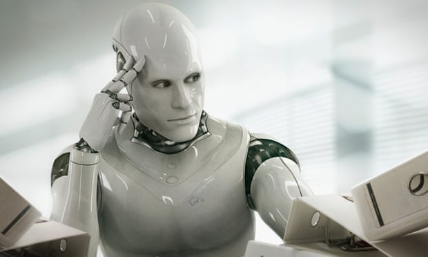 A thinking robot