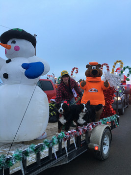 Yardena and Vito riding on the A&W float