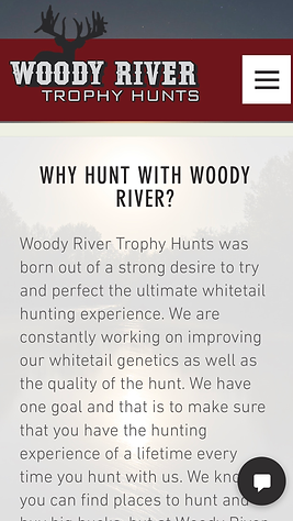 Woody River Trophy Hunts  Why Woody Rive
