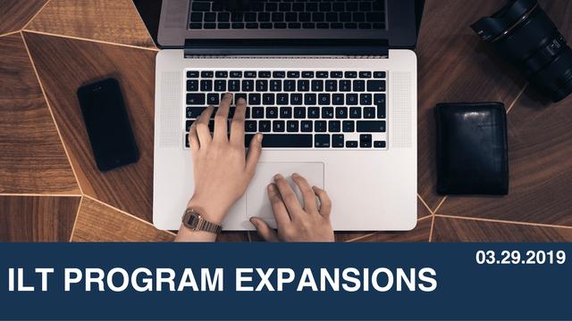 ILT Program Expansions