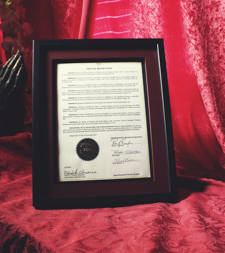 The South Dakota Board of Regents Grants Emeritus Status to Dr. Dennis Bielfeldt