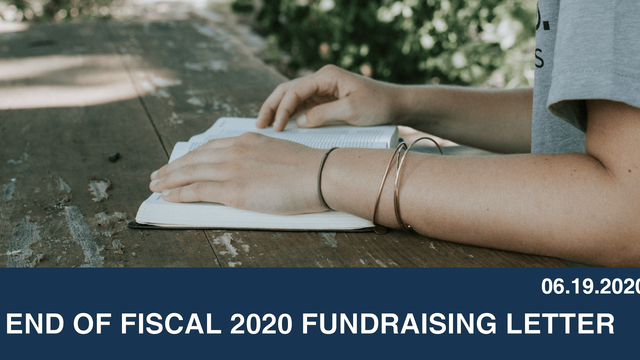 End of Fiscal 2020 Fundraising Letter