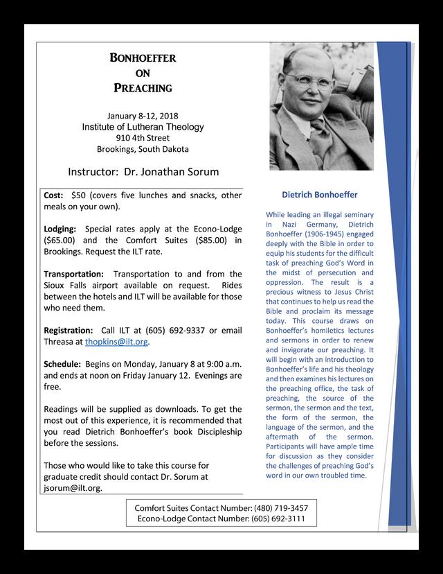 Bonhoeffer on Preaching