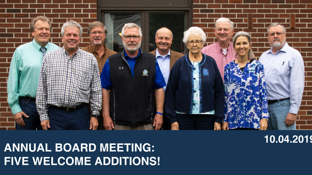 Annual Board Meeting: Five Welcome Additions!