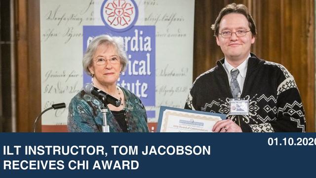 ILT Instructor, Tom Jacobson Receives CHI Award