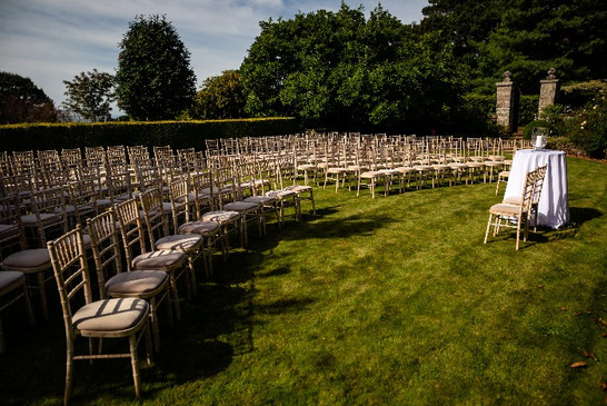 Chairs at ceremony