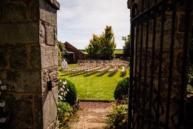 Outdoor wedding ceremonie in UK