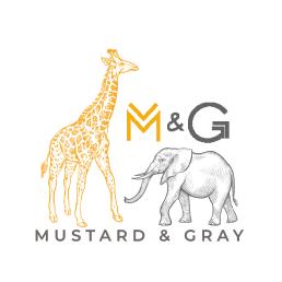 Mustard and Gray Logo