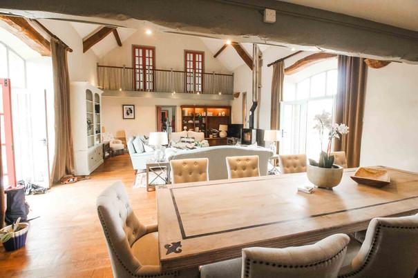 The lounge at Ysgubor Degwm