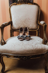 Chair with shoes