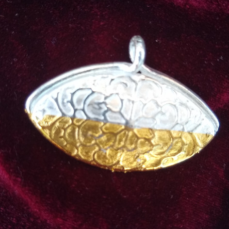 Silberanhänger mit Teilvergoldung