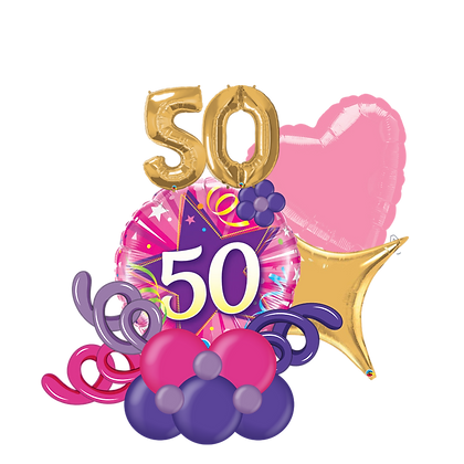 50th Birthday Balloon Marquee Gift