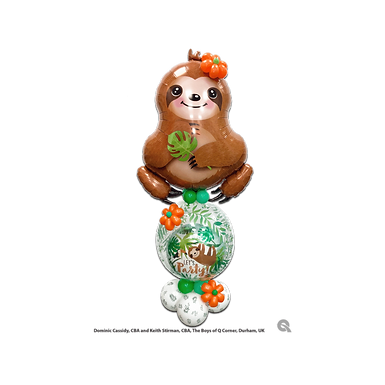Sloth Stuffed Pop-A-Balloon Gift