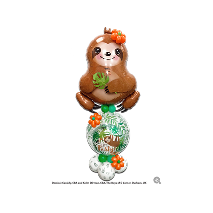 Sloth Stuffed Pop-A-Balloon Gift