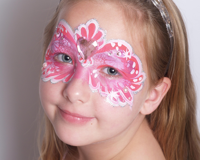 Fancy Bling Princess Mask Face Painting Mardi Gras 04