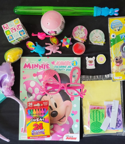Sample of Items Deluxe Bunny Basket