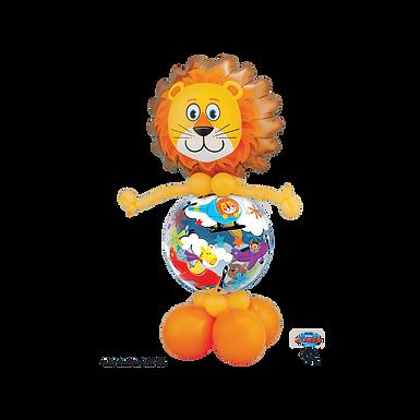 Lion Stuffed Pop-A-Balloon Gift