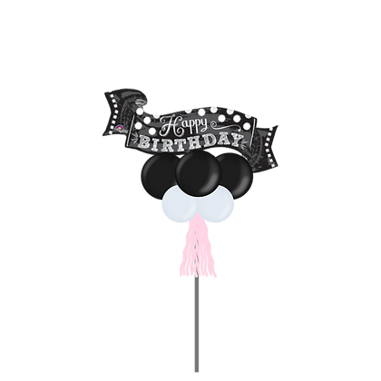 Jumbo Party Pole-HBD Banner Blk