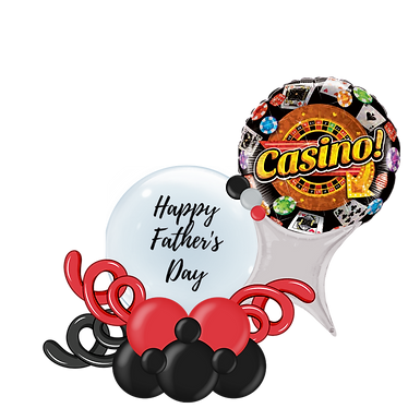 Casino Happy Father's Day Balloon Marquee Gift