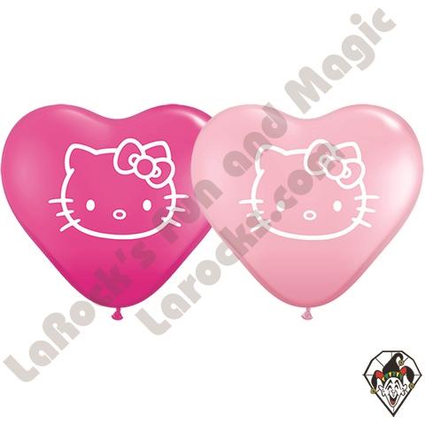 Hello Kitty- Printed Heart